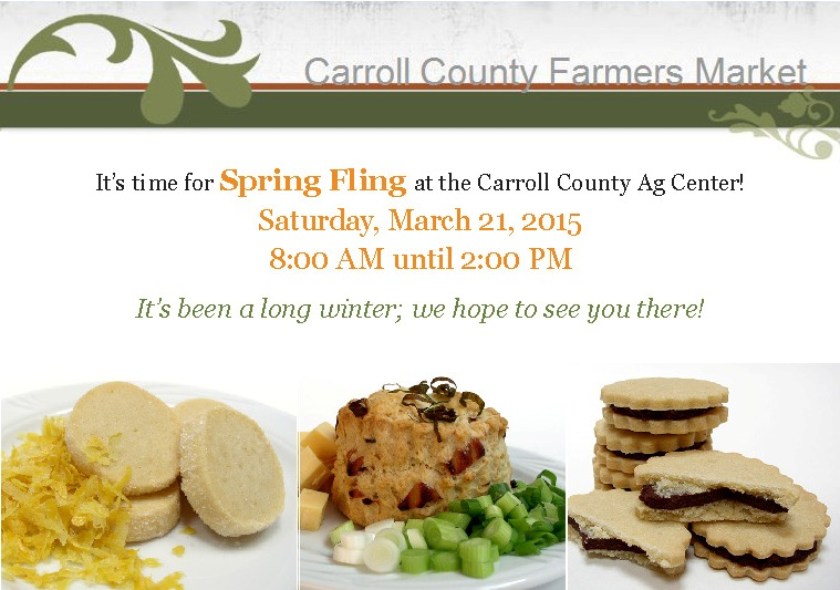 Spring Fling at the Carroll County Ag Center is March 21, 2019 from 8:00 AM until 2:00 PM. It's been a long winter; we hope to see you, there!
