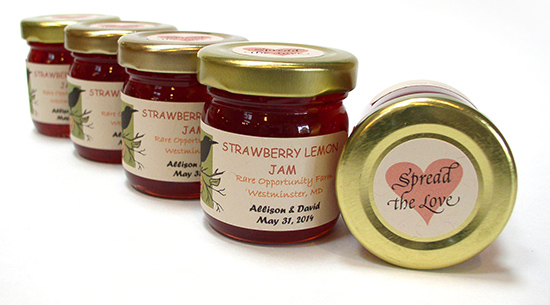Spread the Love wedding jam guest favors