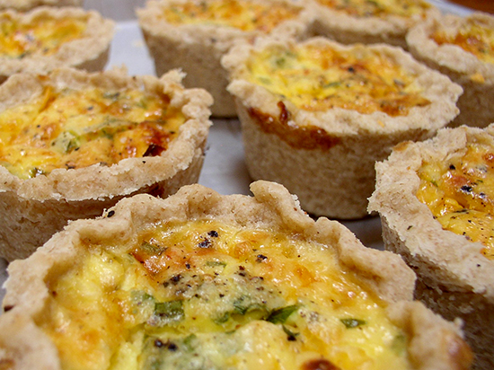 Personal Three Cheese Asparagus Quiche
