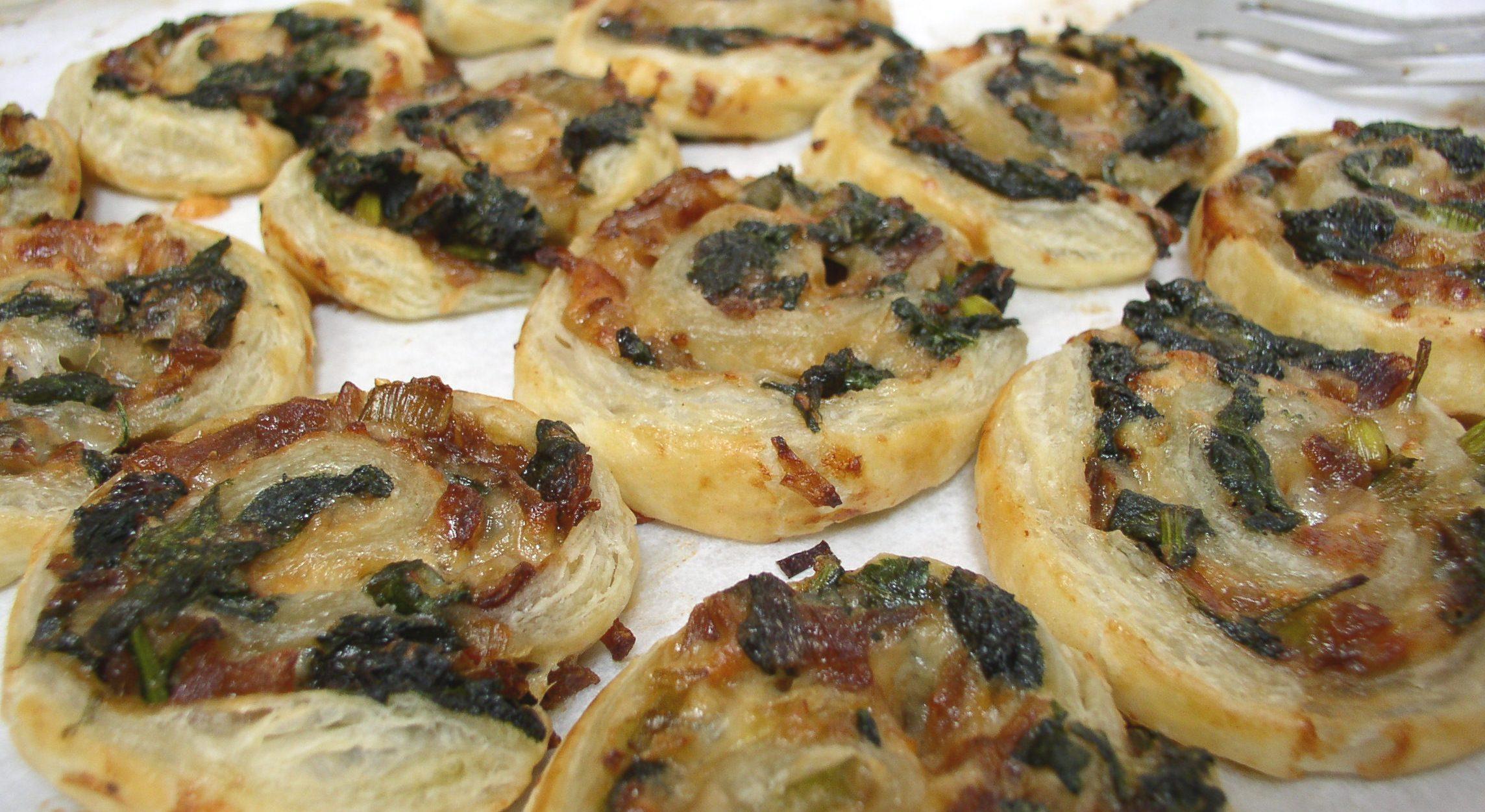 Spinach Cheese Pinwheels