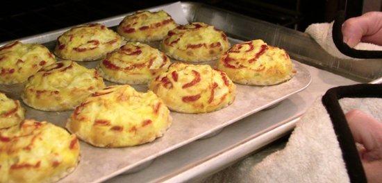 Fresh from the Oven: Sriracha Three Cheese Mini Quiches