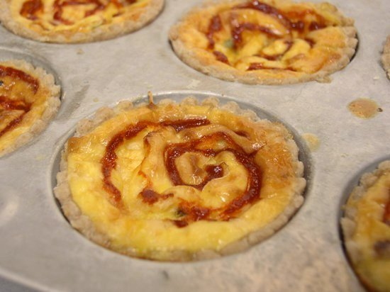 Sriracha Three Cheese Quiche - fresh from the oven