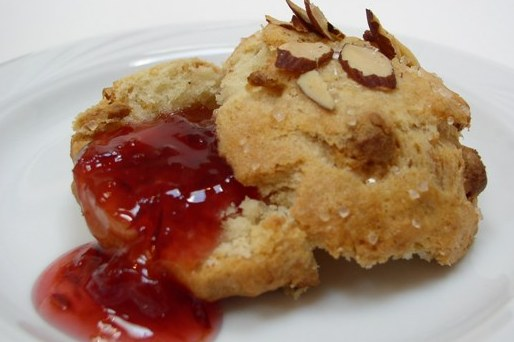 There's nothing like a warm scone with tangy-warm jam to warm you up on a cold winter day!