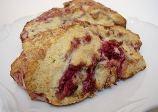 Traditional Fresh Raspberry Scone