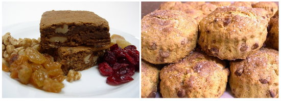 Molasses Ginger Squares and Pumpkin Spice Scones