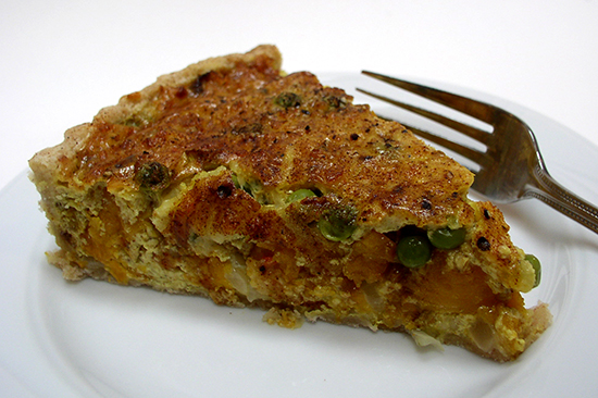 Curry Butternut Squash Quiche